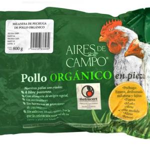 Milanesa de pollo orgánico Aires de Campo